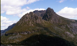 View of Cradle Mountain ridgeline from Hansons Peak