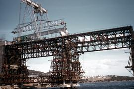 Construction of Tasman Bridge 1961