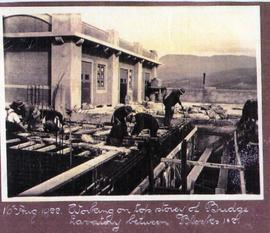 Construction at Cadbury Factory, 1922