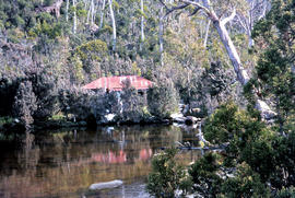 Bushwalker near Mount Lord