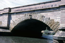 Carvings on Ross Bridge archway