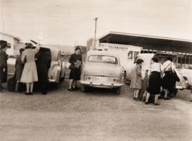 Loading luggage at Hobart Aerodrome