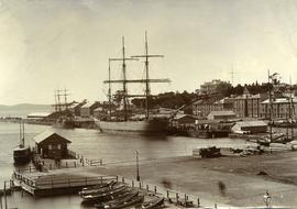 Ships docked at New Wharf, Hobart
