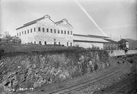 New buildings under construction above railway cutting at E.Z. Co. Zinc Works 1924