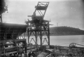 Assembling crane on wharf at E.Z. Co. Zinc Works at Risdon
