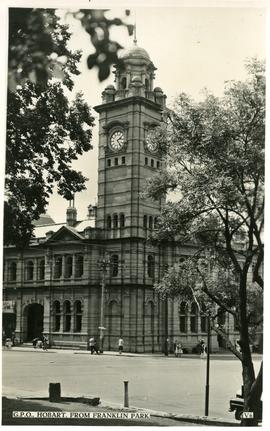 Hobart General Post Office from Franklin Park
