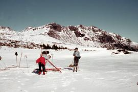 Snow skiing near Florentine Peak 1959