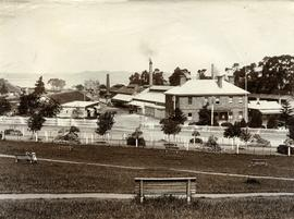 Hobart Railway Station, taken from university gardens