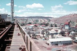Construction depot and office of Tasman Bridge, 1964