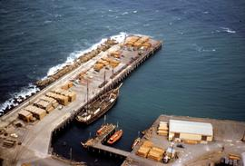 Bird's eye view of Burnie wharf