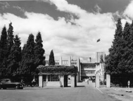 Gates and entrance to the Cadbury factory