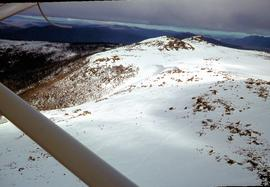 Skiers on Mount Mawson plateau