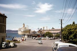 Murray Street ferry pier and ships docked in Hobart