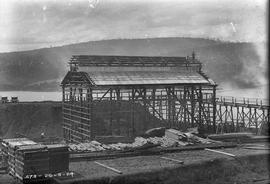 Workers building framework of new building at E.Z. Co Zinc Works 1924