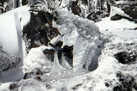 Ice formation on rocks at Ben Lomond 1962