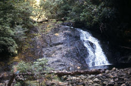 Waterfall at western end of Lake Timk 1974
