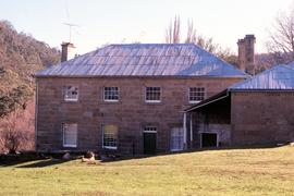 Front view of Sherwood, sandstone homestead at Hollow Tree