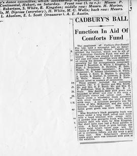 Cadbury's Ball Newspaper Article
