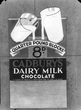 Advertisement for Cadbury's Dairy Milk Chocolate