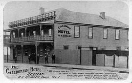 View of the Caledonian Hotel, Zeehan, Tasmania