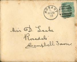 Letter from Matt Seal: August 26 1893