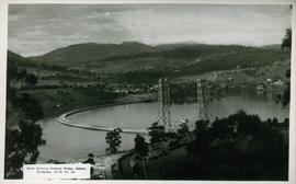 Postcard of the pontoon bridge, Hobart