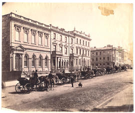 Murray Street with horse drawn carriages
