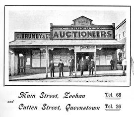 View of C Brumby & Co, Auctioneers, Queenstown, Tasmania
