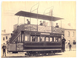 Photograph of electric tram car
