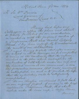 Letter to Sir William Denison