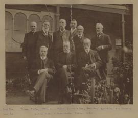 Photograph of of nine gentleman