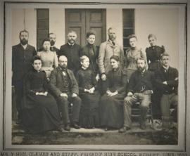 Photograph of the staff of Friends' High School Hobart