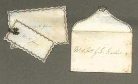 Wedding cards in envelope