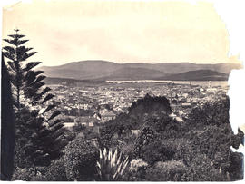 View from Mr. Robert's garden, West Hobart