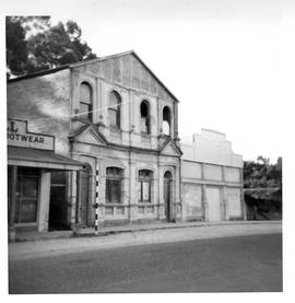View of the façade of the Commercial Bank, Strahan, Tasmania