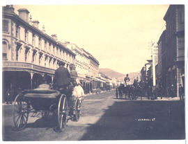 Liverpool Street Hobart with horse drawn carriages