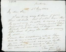Letter: 25 May 1842