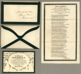 Mourning card  Isabella Mather