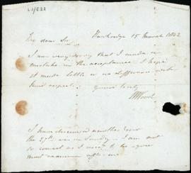 Letter: 15 March 1842