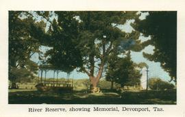 River Reserve, showing Memorial, Devonport, Tas.