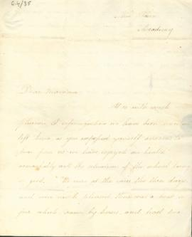 Letter: Henry Meredith to mother