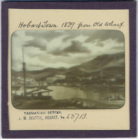 Hobart Town, Van Diemen's Land, from Old Wharf in 1839