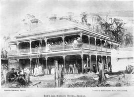 View of the All Nations Hotel, Zeehan, Tasmania