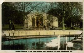Postcard of Hart Memorial, Launceston