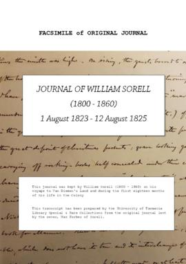William Sorell : Journal