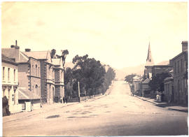 Photograph of Davey Street, Hobart, looking west