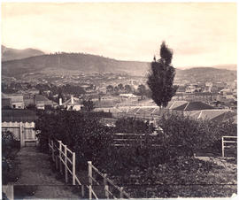Hobart from a garden behind Salamanca Place