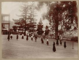Photograph of girls in playground