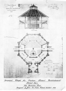 Proposed chapel designed for the Orphan School Establishment