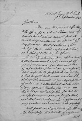 Copy of a letter from Sir John Franklin to Rev. J Lillee